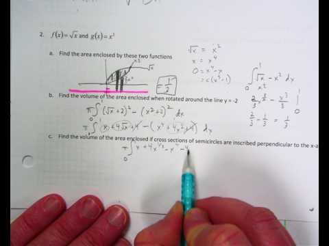 area volume AP style worksheet #2 no calculator