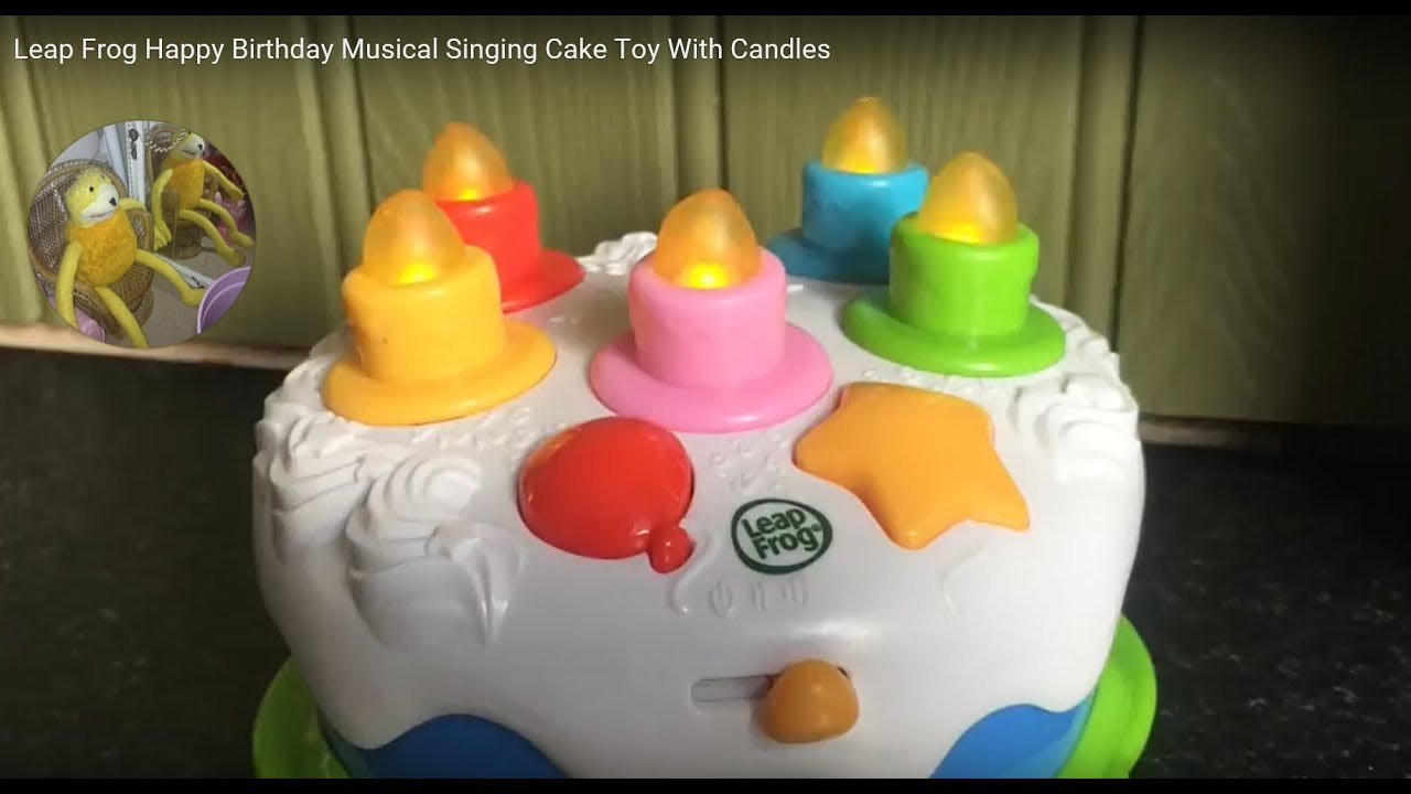 Leap Frog Happy Birthday Musical Singing Cake Toy With Candles