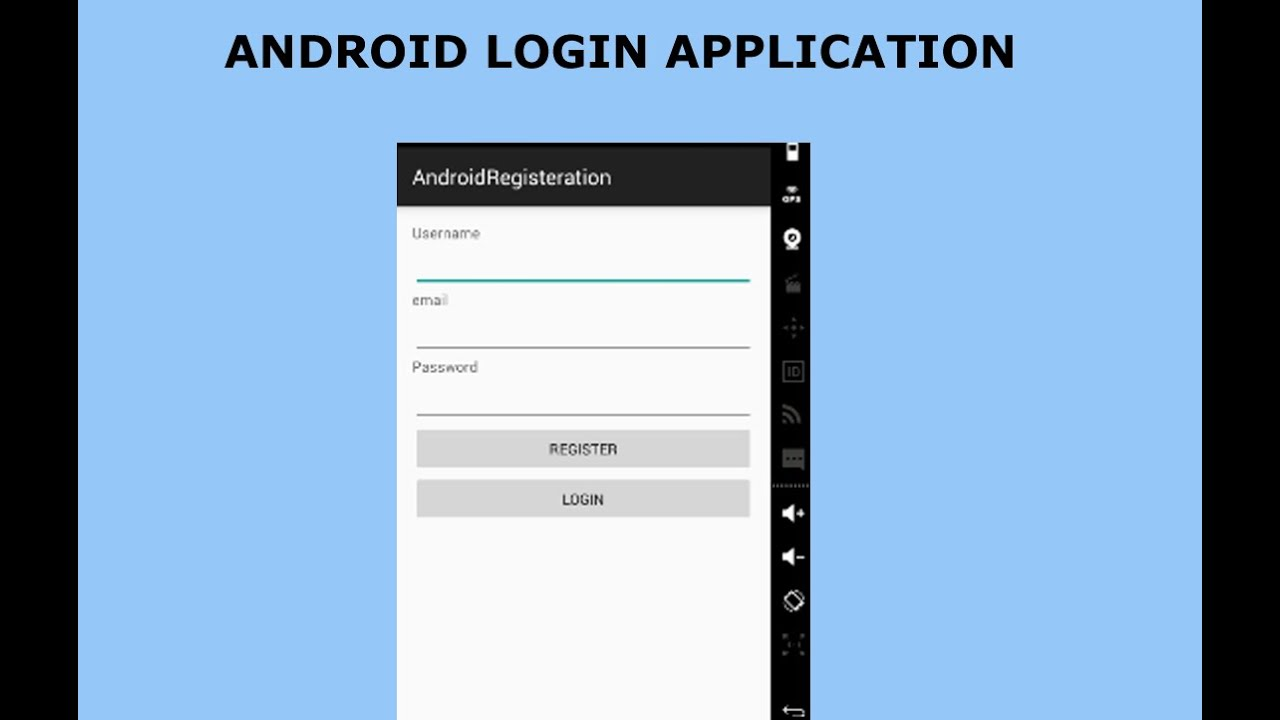 Android Volley Login Application Youtube