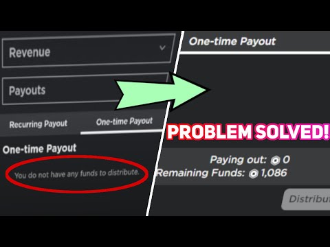 (2020) FIX YOU DO NOT HAVE ANY FUNDS TO DISTRIBUTE ERROR IN ROBLOX GROUP