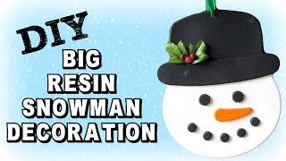 Big Resin Snowman Decoration Diy  Craft Klatch Christmas Series