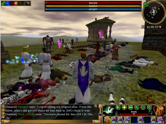 Asheron's Call - Last Day - buff and scout round Holt's corpses