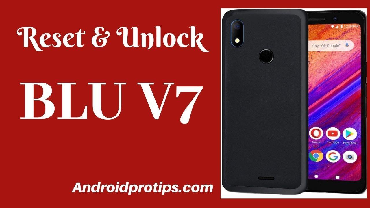 How to Reset & Unlock BLU V7 - YouTube