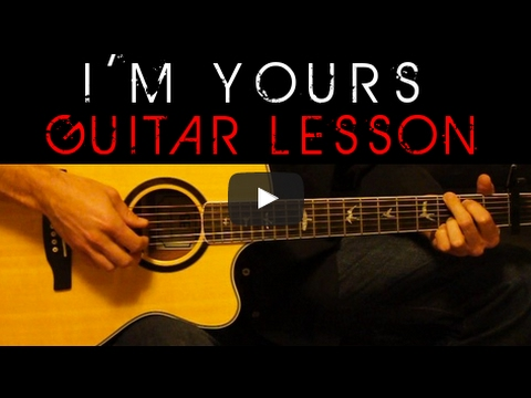 Jason Mraz - I\'m Yours Easy Acoustic Guitar Tutorial Lesson Cover + ...