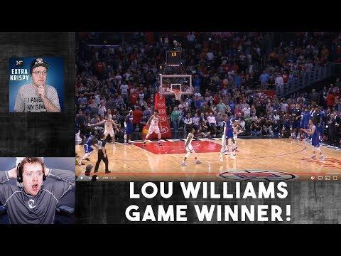 LOU WILLIAMS GAME WINNER! LEBRON JAMES SICK PASS! NBA TOP  PLAYS REACTION