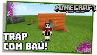 Minecraft PE 0.14.0: TRAP COM BAÚ DE ARMADILHA, EJETOR E LAVA!  - (Pocket Edition / MCPE)