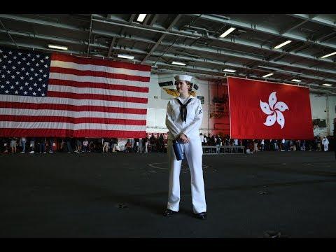 《今日点击》中共国首轮报复:禁止美军靠岸香港 惩罚NGO组织