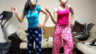 Kortneyy & Jasmin attempting to do the single ladies dance:)