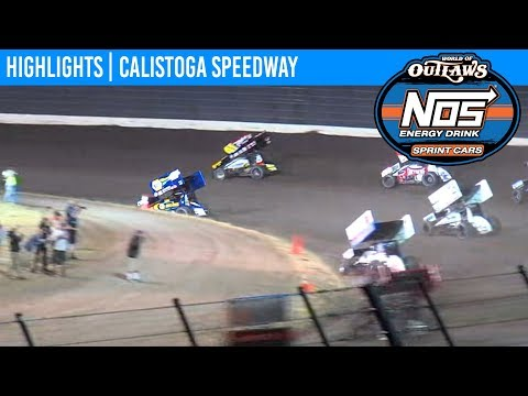 World of Outlaws NOS Energy Sprint Car Series Feature Event Highlights from Calistoga Speedway in Calistoga, California on September 14th, 2019. To view ... - dirt track racing video image