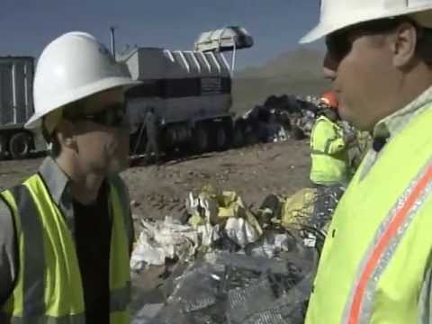 What happens at a Sanitary Landfill??
