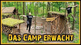 Bushcraft Camp [S05/E20] Name, Rundgang und 'ne Leiter 🏕️ - Outdoor Bushcraft Lagerbau