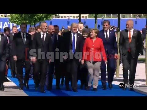 Rama në krah të Merkel dhe Donald Trump në Bruksel