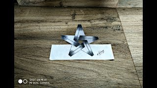 How to draw 3D Impossible Star || Optical illusion || 3d trick art on paper