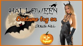 HALLOWEEN COSTUMES TRY ON HAUL FROM DOLLS KILL | REVIEW🎃🤡👻