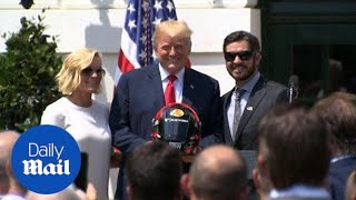 NASCAR drivers and fans 'stand for the National Anthem': Trump - Daily Mail
