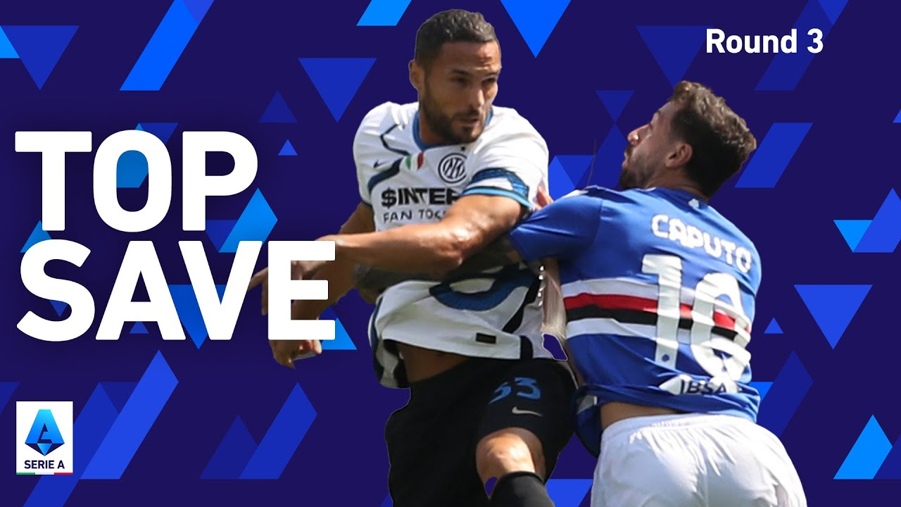 D'Ambrosio's AMAZING save on the line!   Sampdoria 2-2 Inter   Round 3   Serie A 2021/22