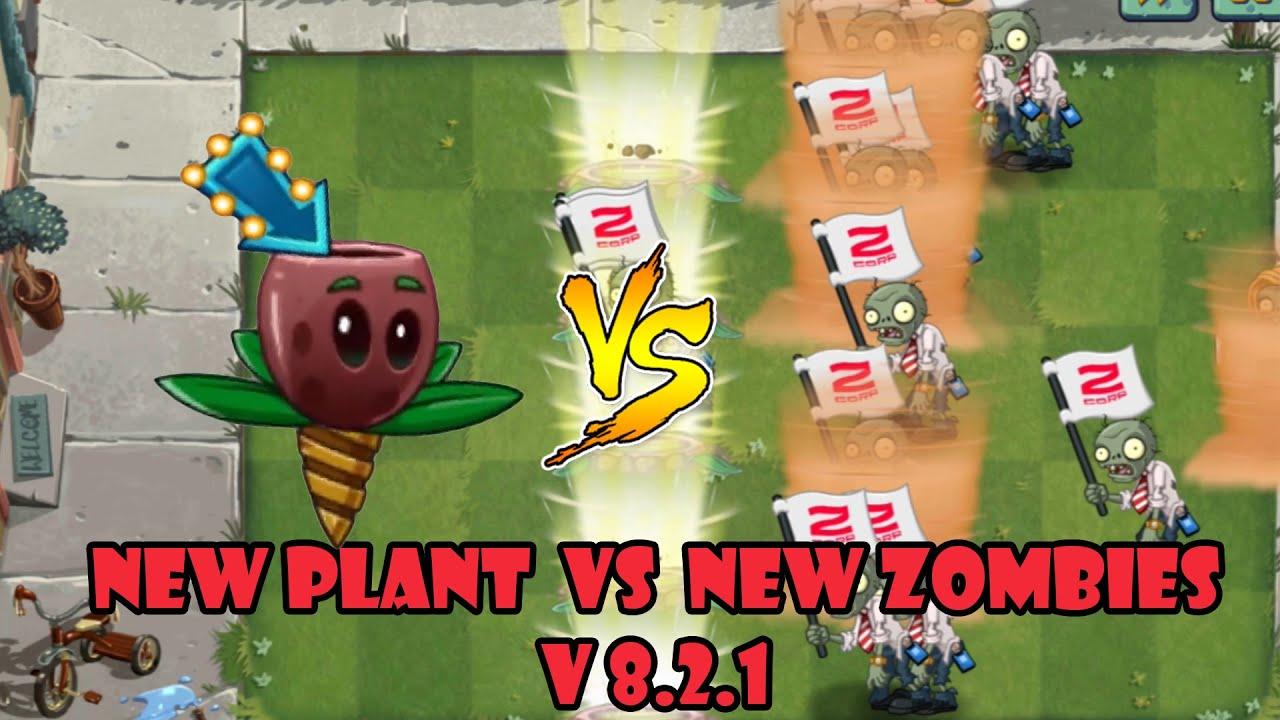 PvZ 2 - V8.2.1 |  New Plants - Olive Pit (Level Max) Vs New Zombies (Level 10)