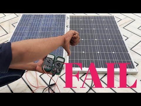 ▶️ Poly solar panel VS mono solar panel  / test