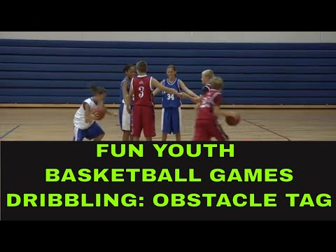 🏀🗑Fun Basketball Games For Kids: Dribbling Games : Obstacle Tag🗑🏀