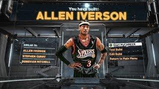 NBA 2K20 ALLEN IVERSON BUILD - SPEEDBOOSTING TWO WAY SCORING MACHINE BUILD
