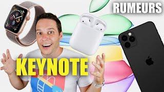 IPhone 11 Pro, AirPods 3,Apple Watch 5,iPad: Rumeurs Keynote сентябрь 2019 года!