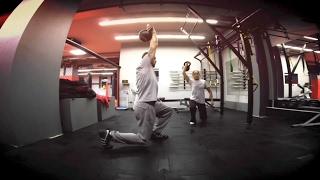 Упражнения с гирей: тренировка с 16 кг гирями от Андрея Басынина(Комплекс упражнений с гирей поможет вам развить силу хвата, силовую выносливость, сухожильную силу и мышцы..., 2016-01-26T21:58:55.000Z)