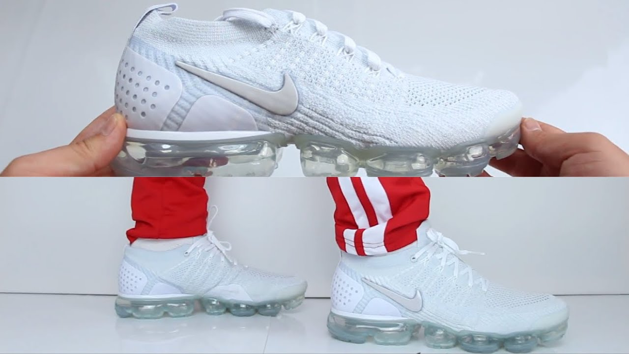 new photos 87658 66d10 Nike Air Vapormax Flyknit 2.0 'Triple White' | UNBOXING & ON FEET