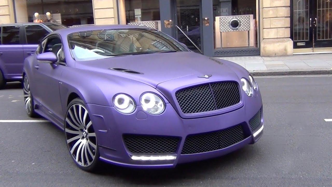 Purple mansory bentley continental gt custom 1 of 1 supercar in purple mansory bentley continental gt custom 1 of 1 supercar in london youtube vanachro Gallery
