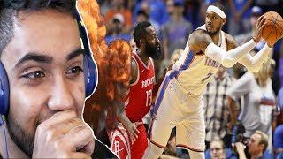 CARMELO ANTHONY OKC THUNDER DEBUT! NBA Houston Rockets vs Okc Thunder Highlights REACTION!