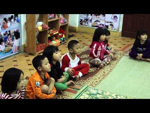 Giờ dạy thao giảng của lớp 5 6 tuổi trường MN Cẩm Nam