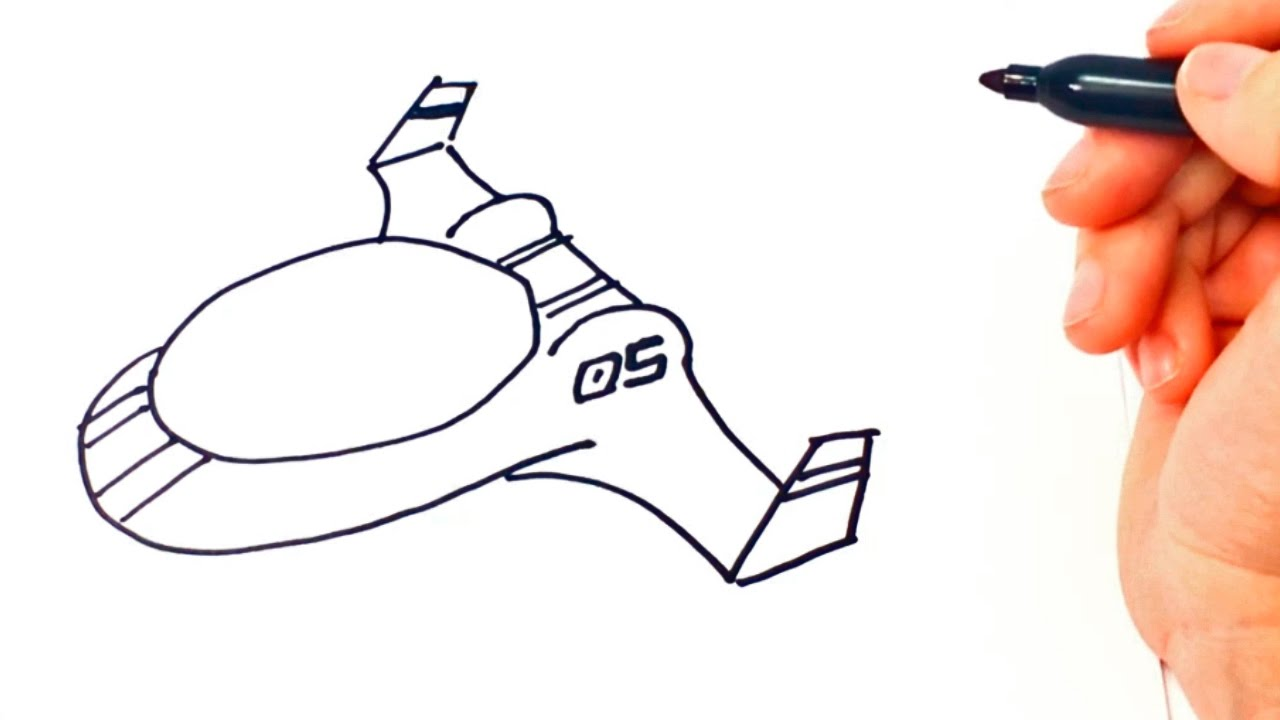 how to draw spaceship small