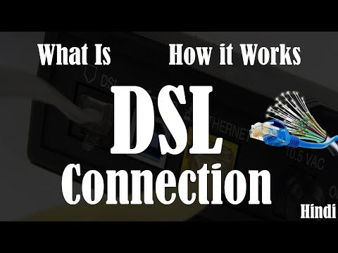 [Hindi] What is DSL Internet | How does DSL internet works | Types of Internet Connection.