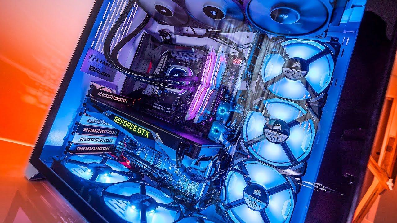 We put 9 FANS inside a Lian Li O11 PC Case   Temperatures are Surprising!