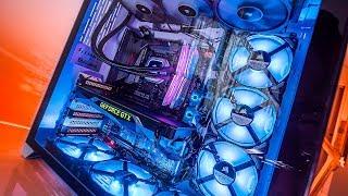 We put 9 FANS inside a Lian Li O11 PC Case...Temperatures are Surprising!