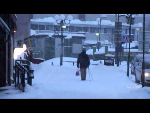 Snowfall in Kiruna, Lapland, Sweden [HD]