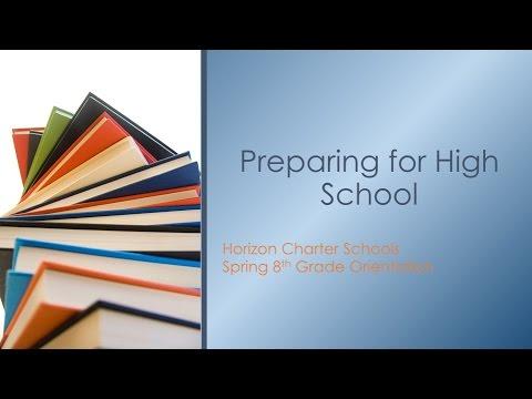 8th Grade Orientation - Preparing for High School