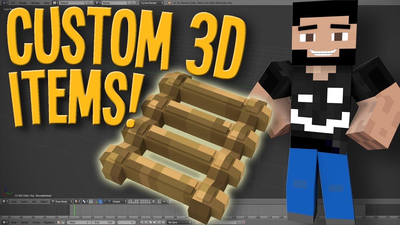 How to Make Custom 3D Minecraft Items | Blender Tutorial
