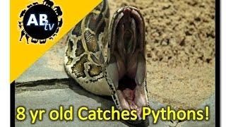 8 Year Old Boy Catches Wild Pythons! The Python Hunter : AnimalBytesTV