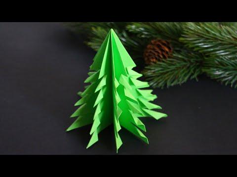 basteln-mit-papier:-'tannenbaum'-dekoration-für-weihnachten,-winter,-advent-[w+]