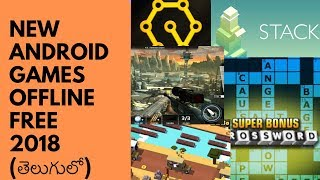 My TOP New Android Games December 2018 I Best Android Games Free Offline  I In Telugu I