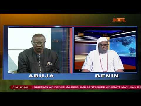 #GoodMorningNigeria:  Patrick Obahiagbon speaking on National Unity and Stability