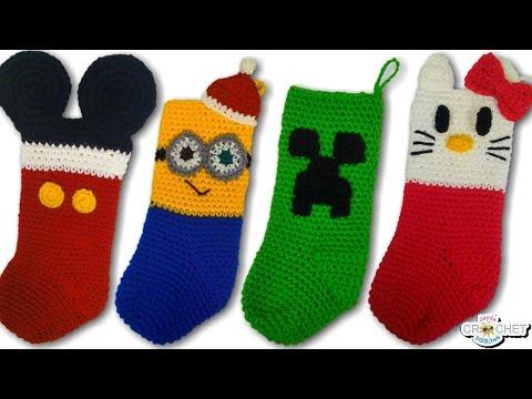 CROCHET: Character Christmas Stockings Vlog & Free Patterns!