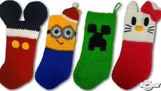 Crochet Character Christmas Stockings Vlog