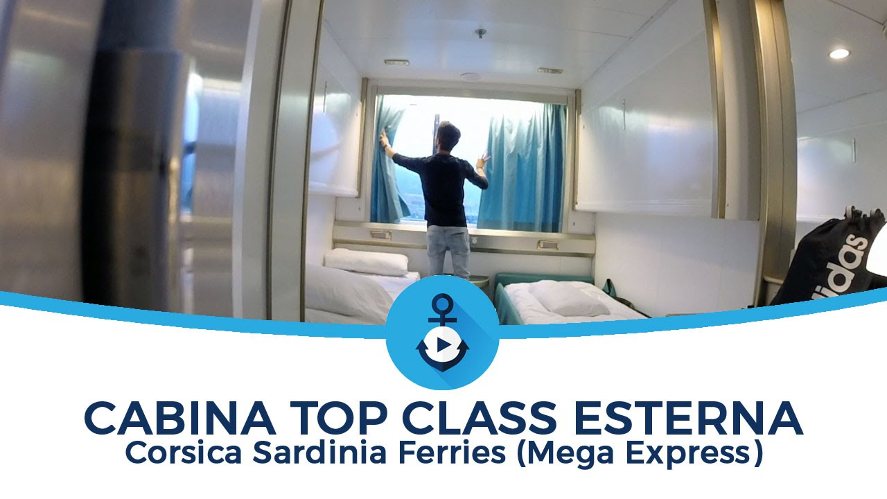 cabina top class corsica sardinia ferries mega express youtube. Black Bedroom Furniture Sets. Home Design Ideas