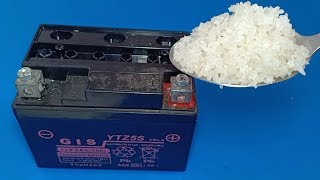 How to repair dead  dry battery at home , Lead acid battery repairation