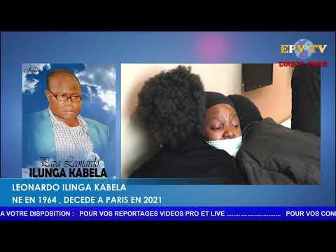 Les obsèques de Leonardo ILUNGA  KABELA à Paris.