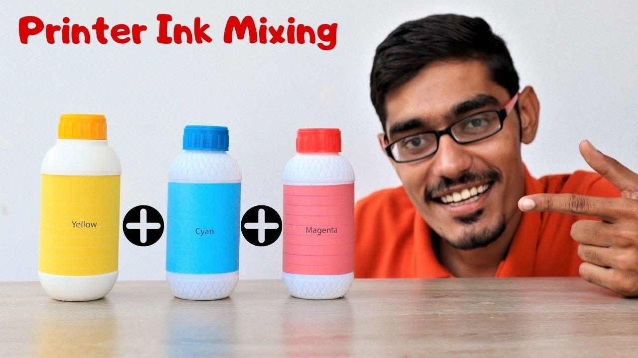 प्रिंटर की सभी श्याही को मिला दे तो कौनसा कलर बनेगा? Mixing All Printer Inks | Surprising Results