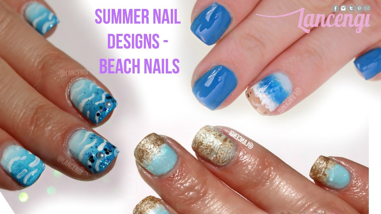 DIY Cute U0026 Easy Nail Art Designs For Beginners #31   Summer Nail Art    Beach Designs   YouTube