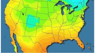 24 hour sliding average temperatures for US - September 15 through January 16