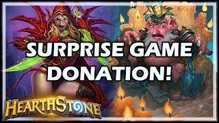 SURPRISE GAME DONATION! - Boomsday / Constructed / Hearthstone